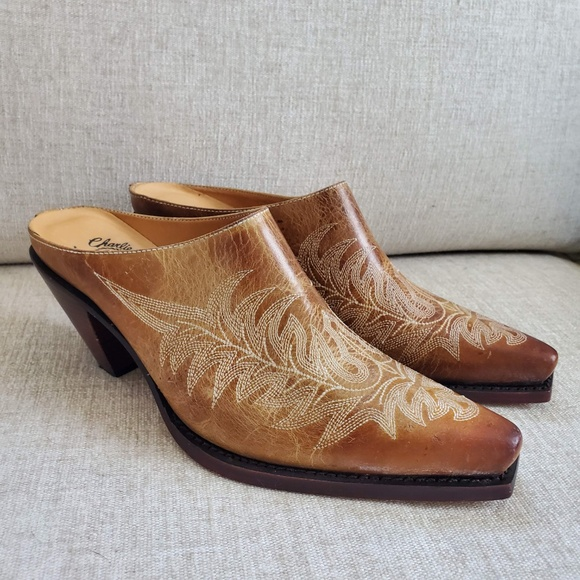 Charlie Horse Cowboy Boot Mules Slides